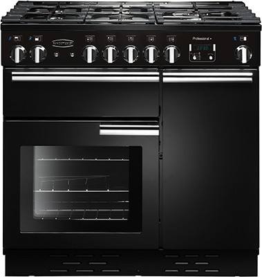 Rangemaster Professional Plus 90DF Black 91630 Dual Fuel Range Cooker