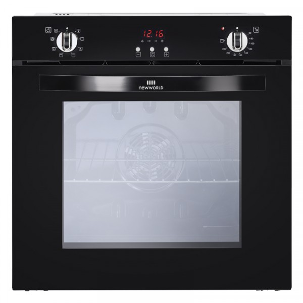 New World NW602MF BLK Single Oven Electric