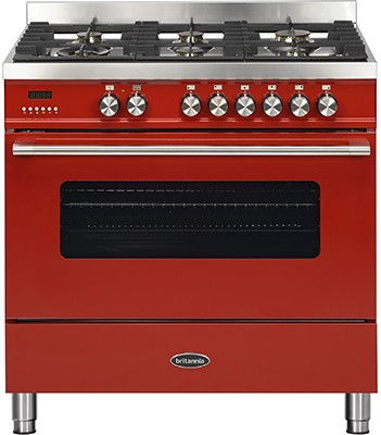 Britannia RC-9SG-DE-RED Dual Fuel Range Cooker