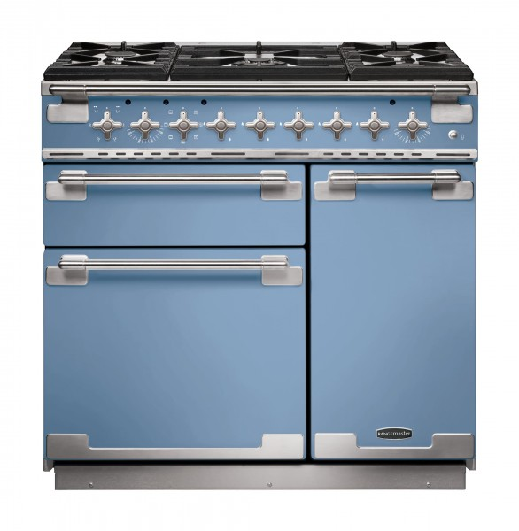 Rangemaster Elise 90DF China Blue 108430 Dual Fuel Range Cooker