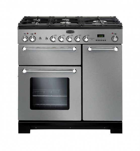 Rangemaster Kitchener 90NG SS Chrome 116770 Gas Range Cooker
