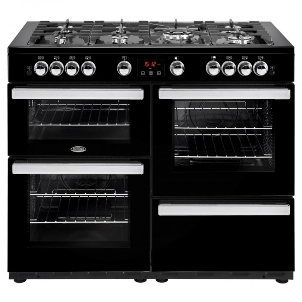 Belling Cookcentre 110G Blk Gas Range Cooker