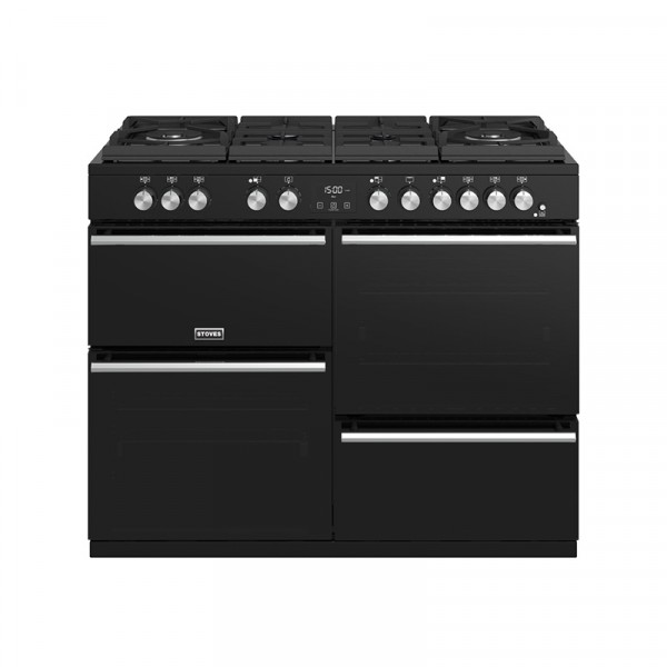 Stoves Precision Deluxe S1100DF GTG Blk Dual Fuel Range Cooker