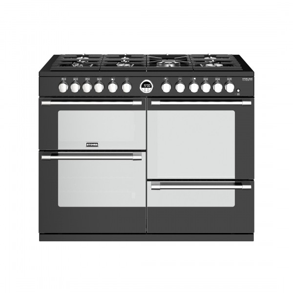 Stoves Sterling Deluxe S1100DF Black Dual Fuel Range Cooker