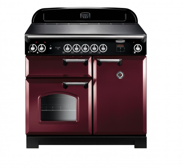 Rangemaster Classic 100IND Cranberry Chrome 117140 Electric Range Cooker