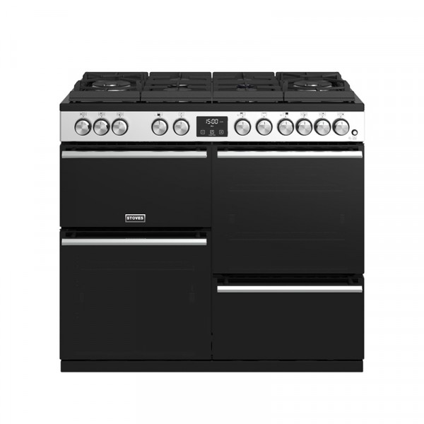 Stoves Precision Deluxe S1000DF GTG SS Dual Fuel Range Cooker