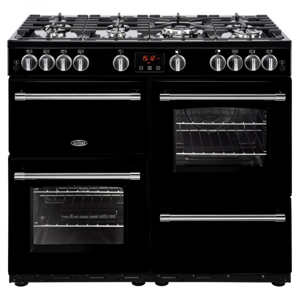 Belling Farmhouse 100G Blk Gas Range Cooker