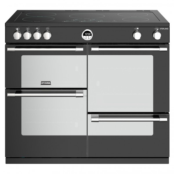 Stoves Sterling S1000E i Black Electric Range Cooker