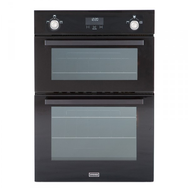 Stoves SGB900MFSe Blk Double Oven Gas