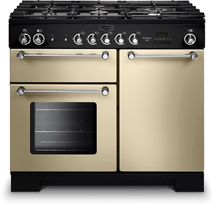 Rangemaster Kitchener 100DF Cream 98800 Dual Fuel Range Cooker