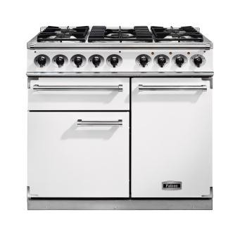 Falcon 1000 DX DF White Nickel 98650 Dual Fuel Range Cooker