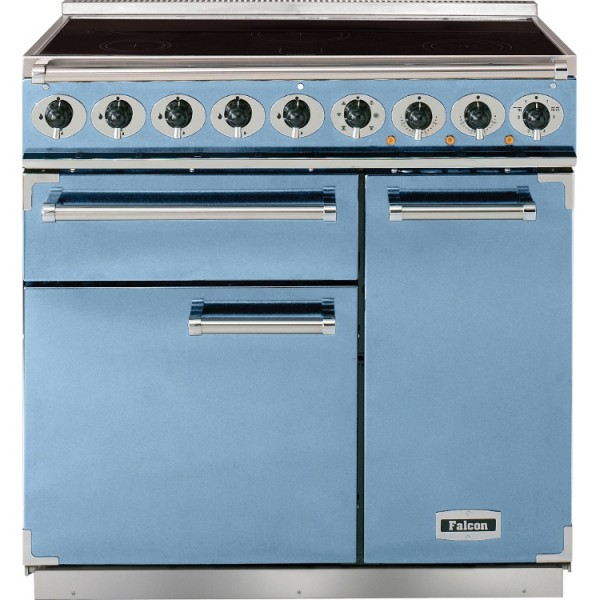 Falcon 900 DX IND China Blue Nickel 81850 Electric Range Cooker