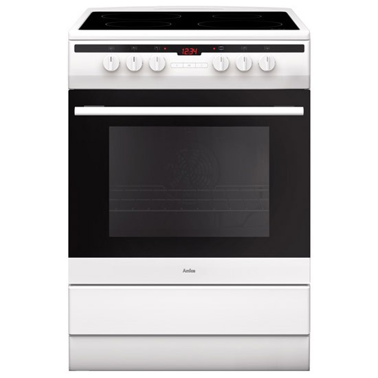 Amica 608CE2TAW Whi Electric Cooker