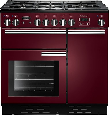 Rangemaster Professional Plus 90DF Cranberry 91640 Dual Fuel Range Cooker