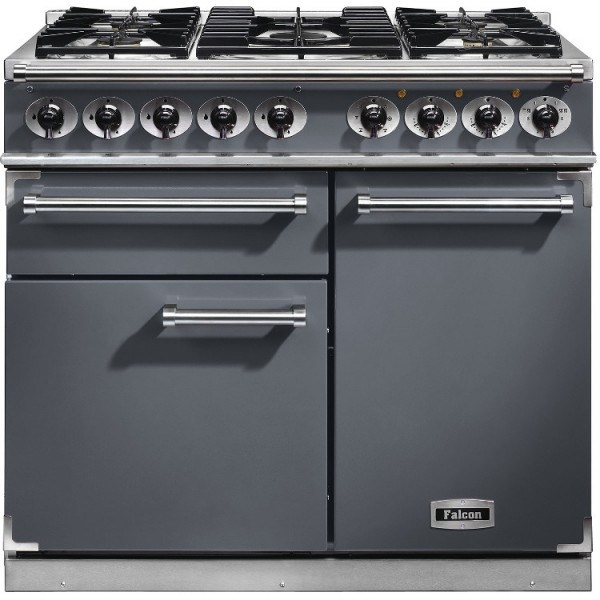 Falcon 1000 DX DF Slate Nickel 102200 Dual Fuel Range Cooker