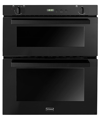 Stoves SGB700PS Blk Double Oven Gas