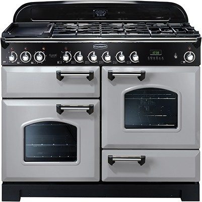 Rangemaster Classic Deluxe 110DF Royal Pearl 100650 Dual Fuel Range Cooker