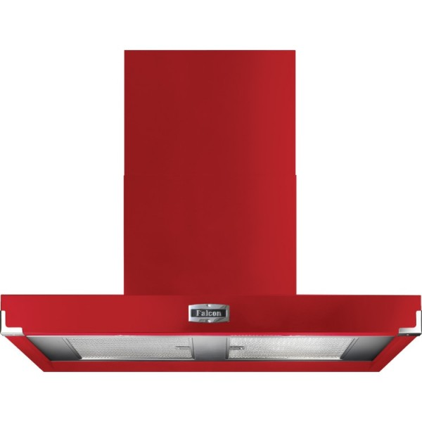 Falcon 1090 Contemporary Cherry Red Nickel 91030 Cooker Hood