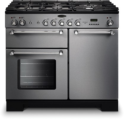 Rangemaster Kitchener 100DF SS 98780 Dual Fuel Range Cooker