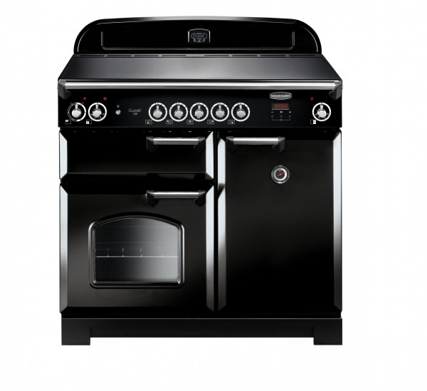 Rangemaster Classic 100IND Black Chrome 117120 Electric Range Cooker