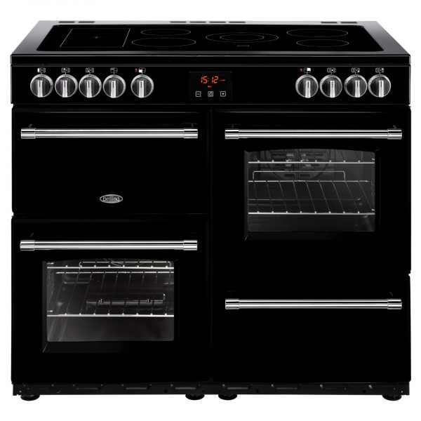 Belling Farmhouse 100E Blk Electric Range Cooker