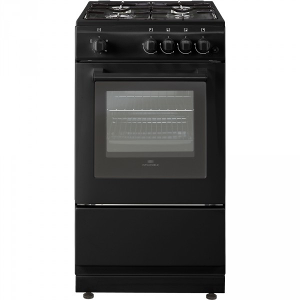 New World 50GSO Blk Gas Cooker