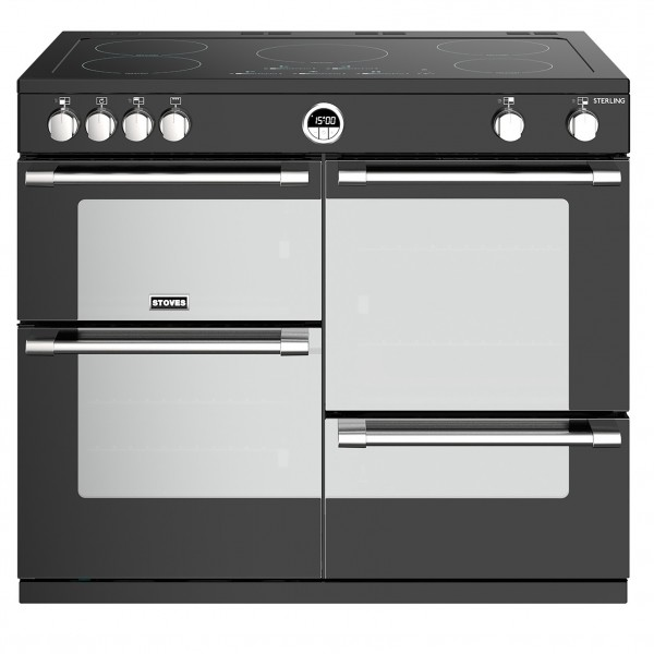 Stoves Sterling S1100E i Black Electric Range Cooker