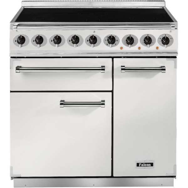 Falcon 900 DX IND White Nickel 82430 Electric Range Cooker