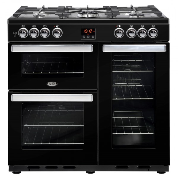 Belling Cookcentre DX 90Dft Blk Dual Fuel Range Cooker