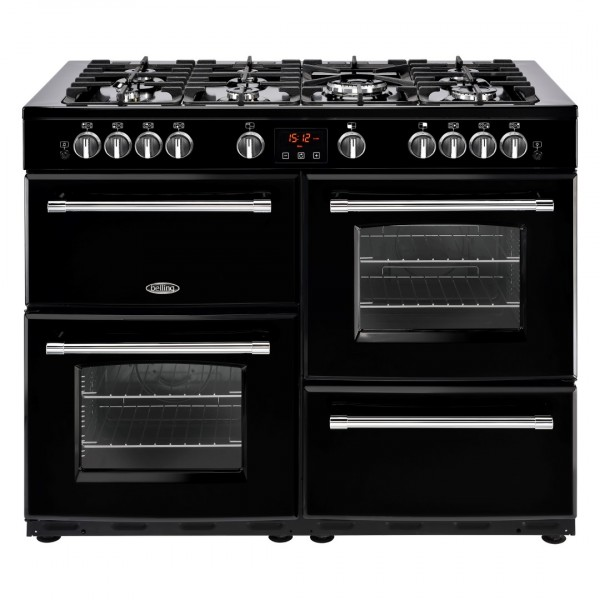 Belling Farmhouse 110Dft Blk Dual Fuel Range Cooker