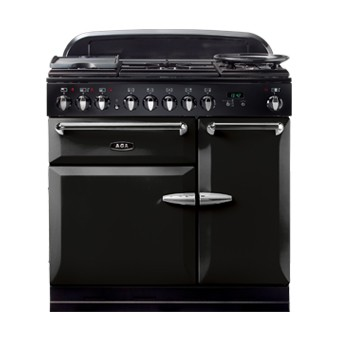 AGA Masterchef 90 DF Black Dual Fuel Range Cooker