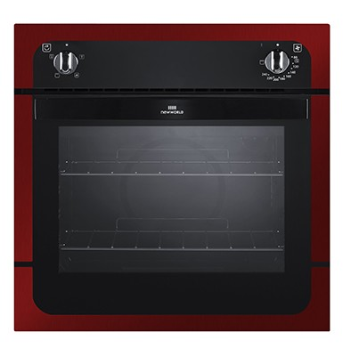 New World NW601F MET RED Single Oven Electric