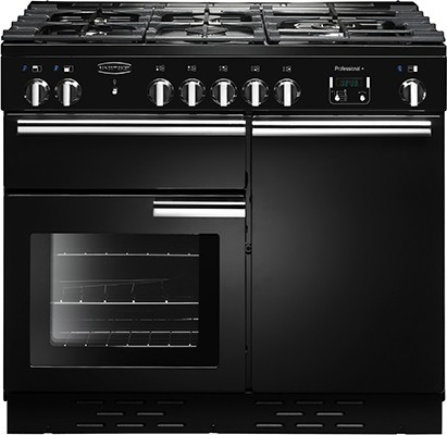 Rangemaster Professional Plus 100G Black 111780 Gas Range Cooker