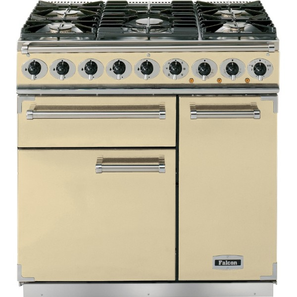 Falcon 900 DX DF Cream Chrome 77050 Dual Fuel Range Cooker