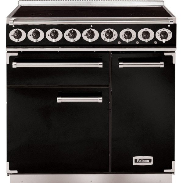 Falcon 900 DX IND Black Chrome 81800 Electric Range Cooker