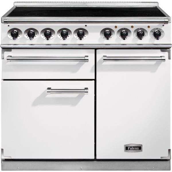 Falcon 1000 DX IND White Nickel 100150 Electric Range Cooker