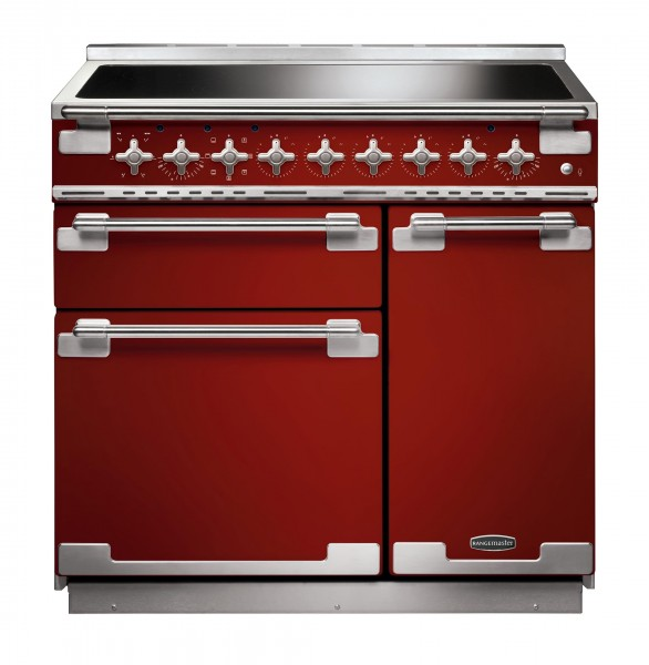 Rangemaster Elise 90IND Cherry Red 107880 Electric Range Cooker