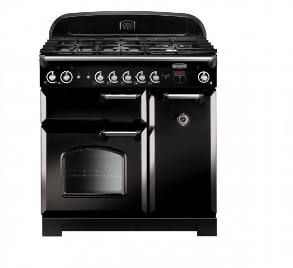 Rangemaster Classic 90NG Black Chrome 116720 Gas Range Cooker