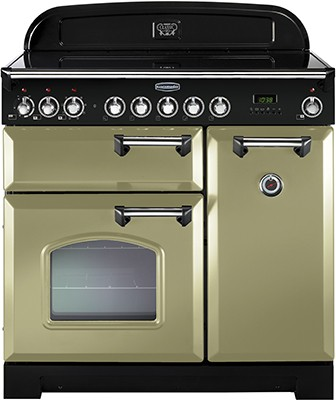 Rangemaster Classic Deluxe 90IND Olive Green 100900 Electric Range Cooker