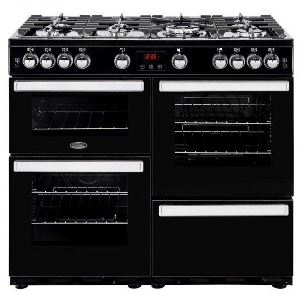 Belling Cookcentre 100G Blk Gas Range Cooker