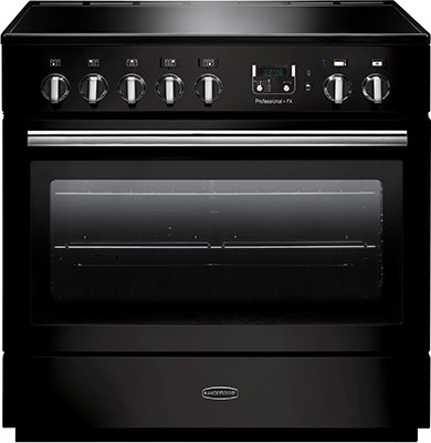 Rangemaster Professional Plus FX 90IND Black 96310 Electric Range Cooker