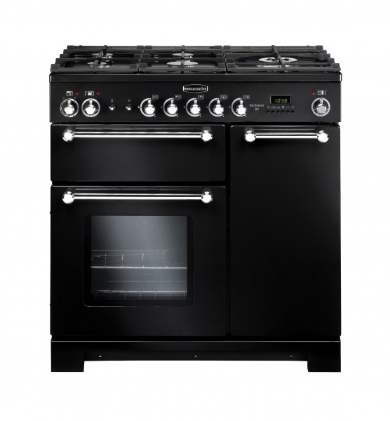 Rangemaster Kitchener 90NG Black Chrome 116750 Gas Range Cooker