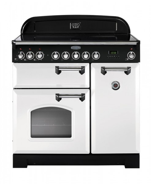 Rangemaster Classic Deluxe 90IND White 113730 Electric Range Cooker