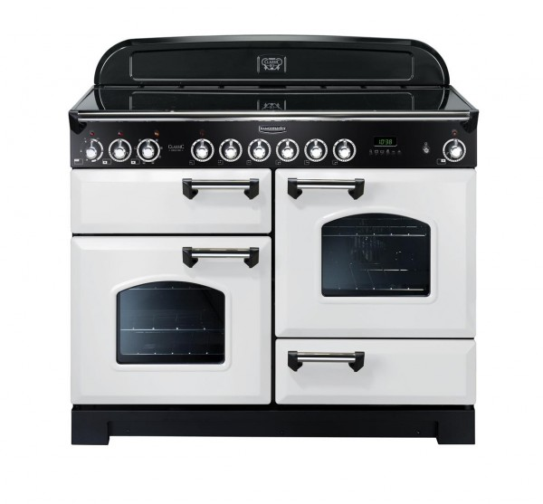 Rangemaster Classic Deluxe 110CER White114150 Electric Range Cooker