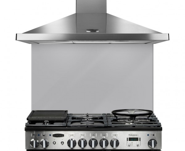 Rangemaster 10758 UNBSP994MS 100CM GLASS MET SILVER SPLASHBACKS