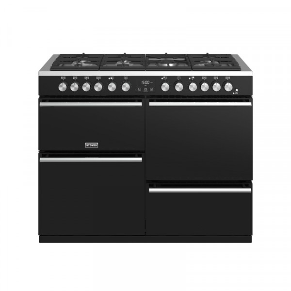 Stoves Precision Deluxe S1100DF Blk Dual Fuel Range Cooker