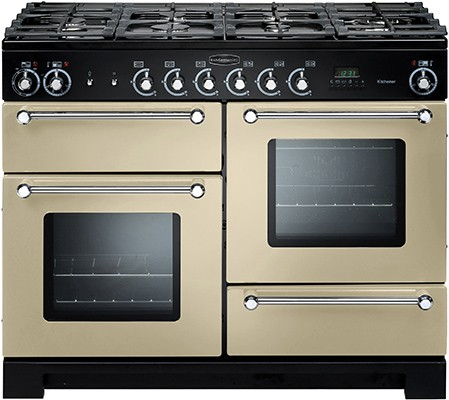 Rangemaster Kitchener 110DF Cream 76770 Dual Fuel Range Cooker