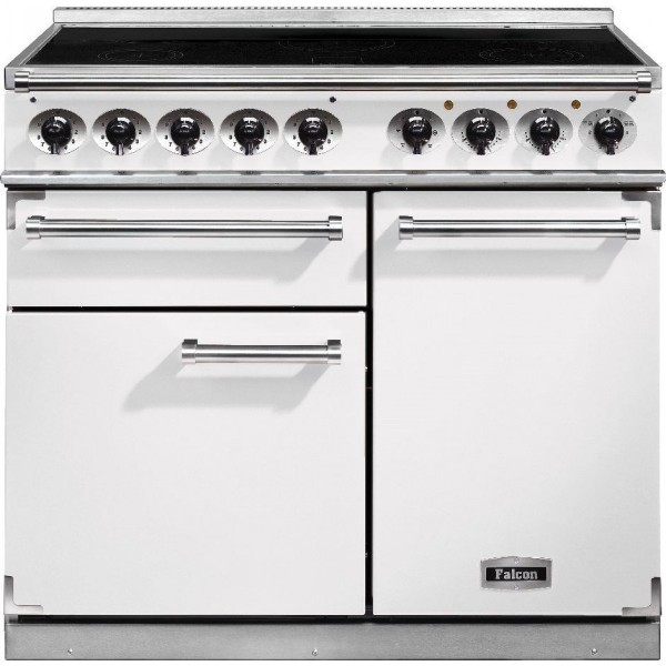 Falcon 1000 DX IND Fawn Nickel 115380 Electric Range Cooker