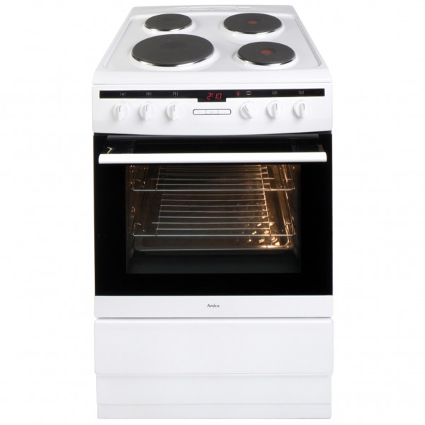 Amica 608EE2TAW Whi Electric Cooker