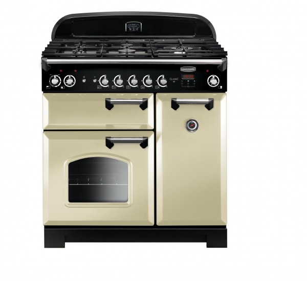 Rangemaster Classic 90 DF Cream Chrome 116500 Dual Fuel Range Cooker
